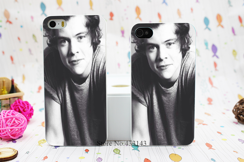 Music Band One Direction Harry Style Hard White Skin Case Cover for iPhone 5 5s 5g(China (Mainland))