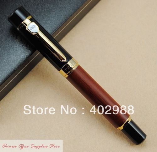 JINHAO 650 Wooden Barrel Fountain Pen M Nib Brand New