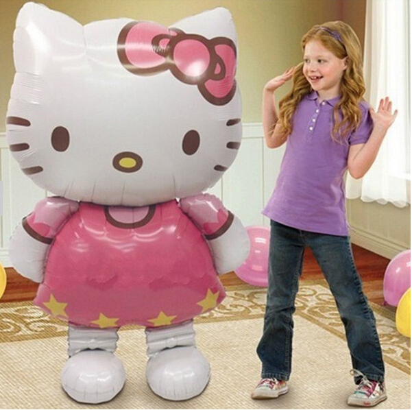 116cm plus size hello kitty helium/foil balloon air balls party decoration happy birthday kid globos party baloon balao de festa(China (Mainland))