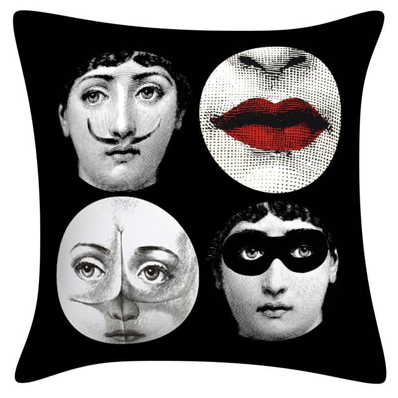 pillowcase <font><b>italian</b></font> fornasetti series for art bedroom a living room cafe pillow cushion bedding set fashion <font><b>decorative</b></font>