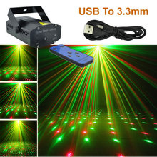 New Black Mini Outdoor Portable IR Remote RG Meteor Laser Projector Lights USB To DC 3