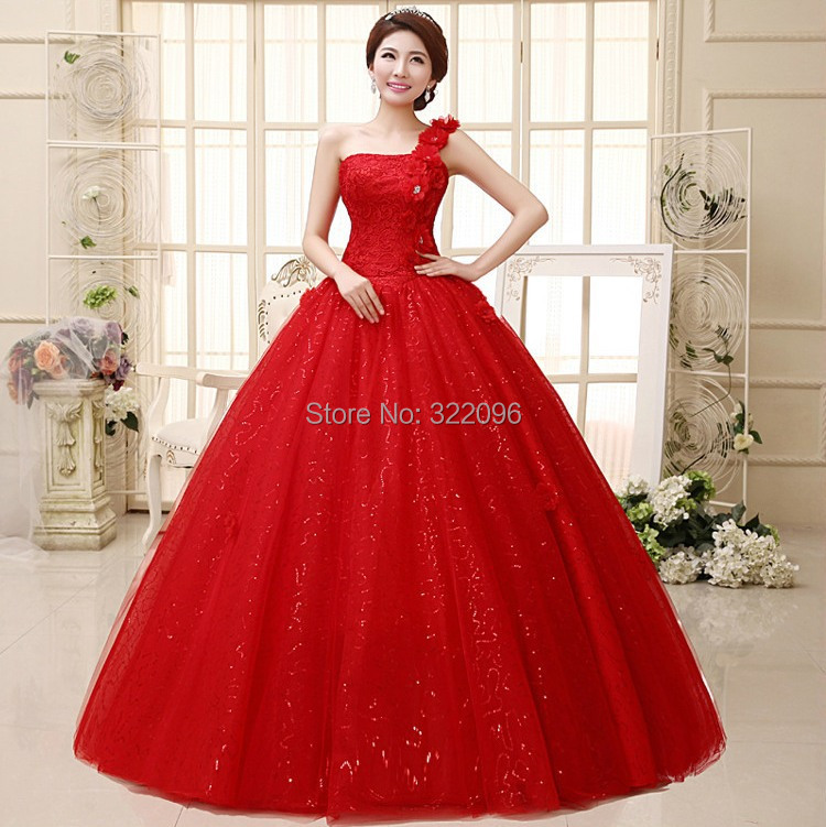 red wedding dress dress