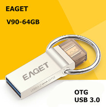 EAGET V90 USB 3.0 100% 64GB Smart Phone Tablet PC USB Flash Drives OTG external storage micro 64g pen drive memory stick