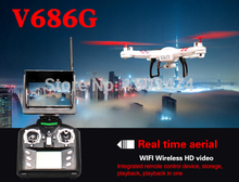 Hottest V686G FPV RC DRONE 5.8G Real time live transmission Big LCD RC Quadcopter with 2 Megapixels HD Camera WL RC Quad copter