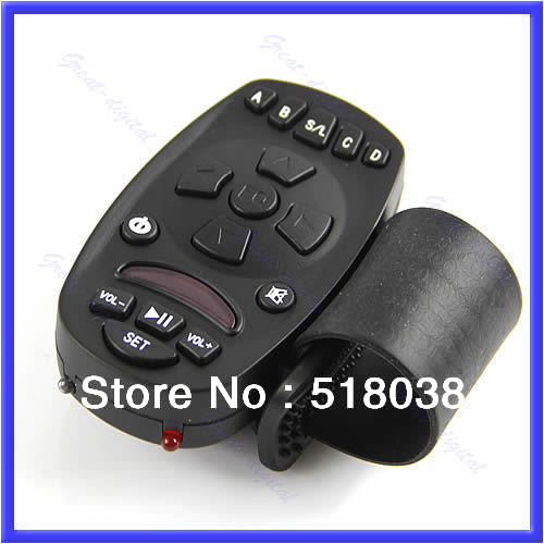 A25 Free Shipping Universal Steering Wheel Remote Control Learning for Car CD DVD GPS MP3 Player(China (Mainland))