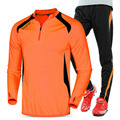 2016 Kids Soccer Jerseys Sets Polyester Long Sleeve cycling clothes Tracksuits adult child Football Training Kits
