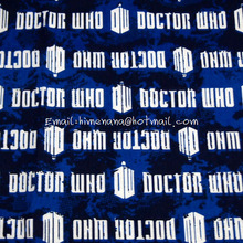 Buy dr008 1 Yard Cotton Woven Fabric Doctor BBC Police Box, White Logo, Packed Tardis, Dr. Blue, W105 for $10.00 in AliExpress store