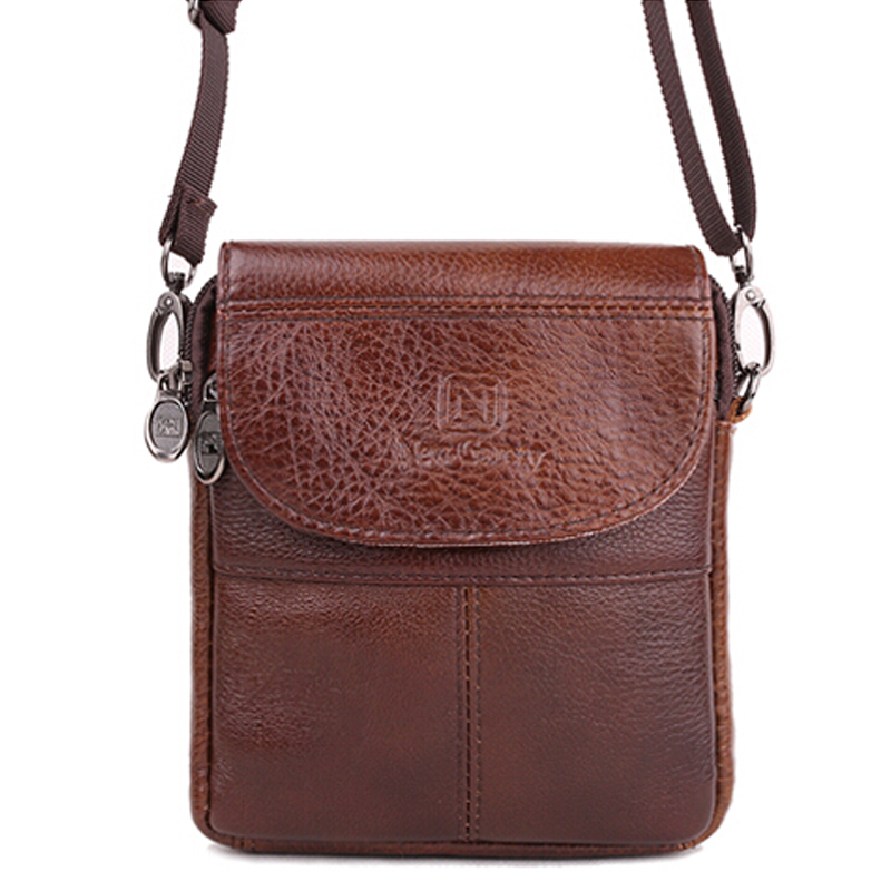 Vintage brand mini portable leather men bags high quality natural cowskin casual men messenger bags XJ298(China (Mainland))