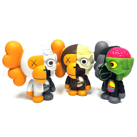 8 inch Original Fake Kaws Bape Dissected Milo black