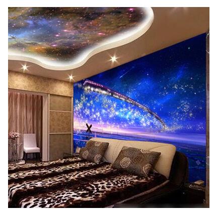 Night Sky Bedroom  Night Bedroom Ceiling Large Mural Wallpaper Stereo Star  Bedside Living Room Sofa. Night Sky Bedroom  Night Bedroom View Gallery on Sich