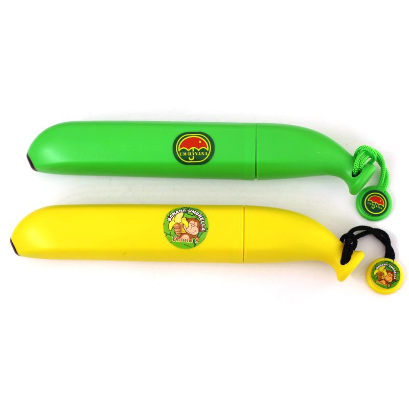 Персонализированные мультфильм банан в три раза портативный автоматический зонтик защиты детей зонтик