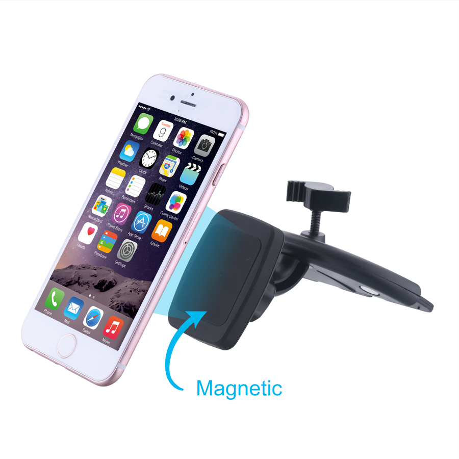2016 Newest Universal 360 Rotation CD Slot Holder For Mobile Phone Magnetic Car Mount CD Slot Holder For Iphone For Samsung(China (Mainland))