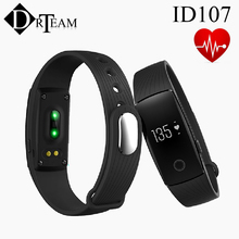 New Smart Wristband ID107 Smart band Heart Rate Monitor pulsometer Fitness Tracker for ios 7.0 Android 4.4 Pedometer Bracelet(China (Mainland))