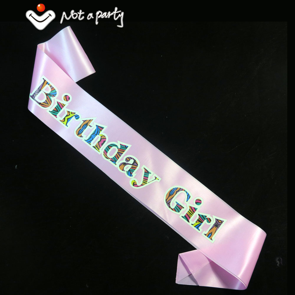Lovely Birthday girl souvenirs party Sash colorful printing 20designs for chose event party supplies fun decoration birthday(China (Mainland))