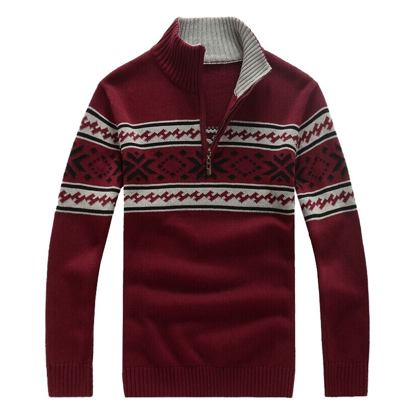 Thick New Men Winter Sweaters Casual Male Coats & Jackets Man Polo 70% Wool Flower Sweater Hight Quality A0682(China (Mainland))