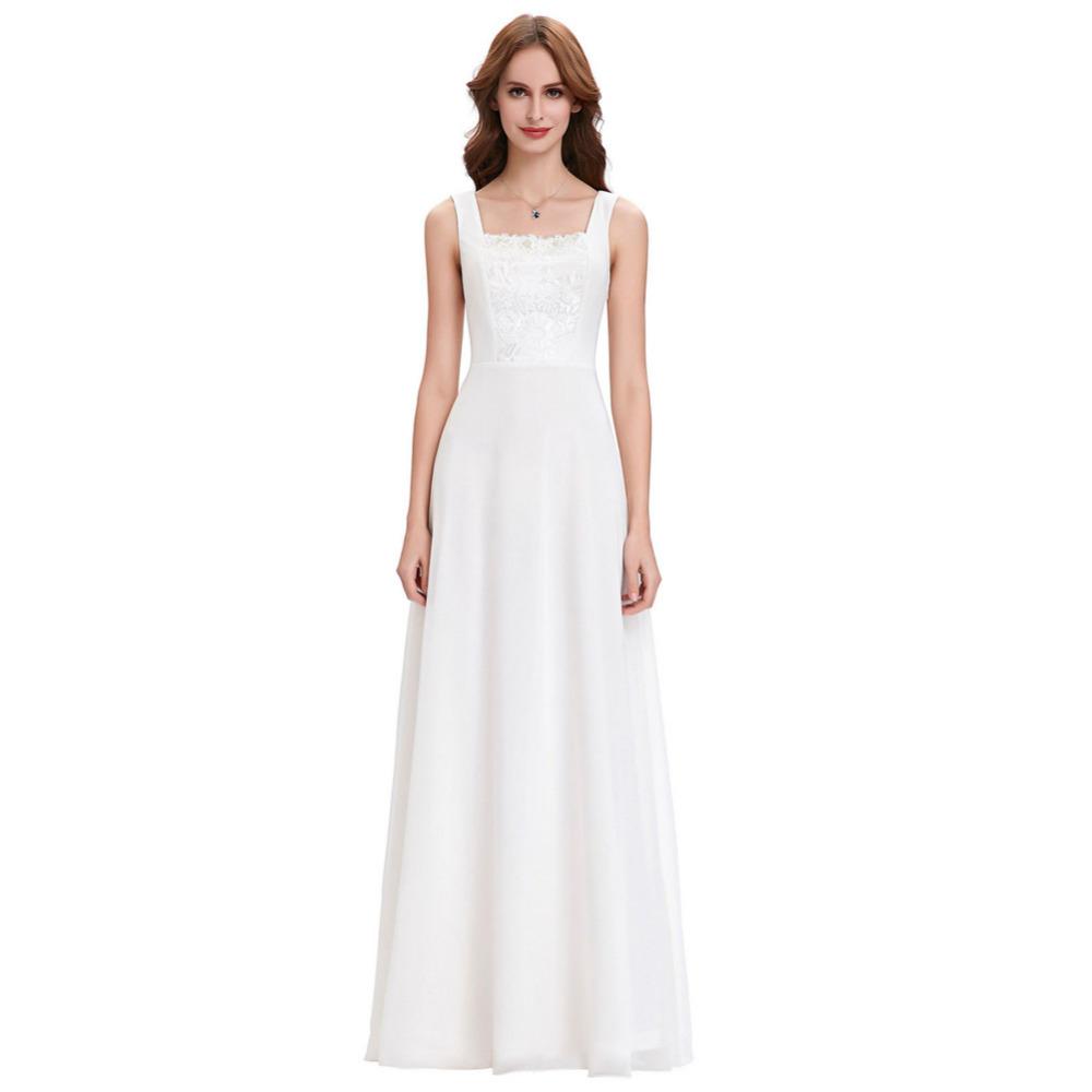 Korean Style A Line Chiffon Bridal Wedding Dress 2017 Retro Vintage Robes de Mariee Church Bride Dresses Wedding Gowns 0131