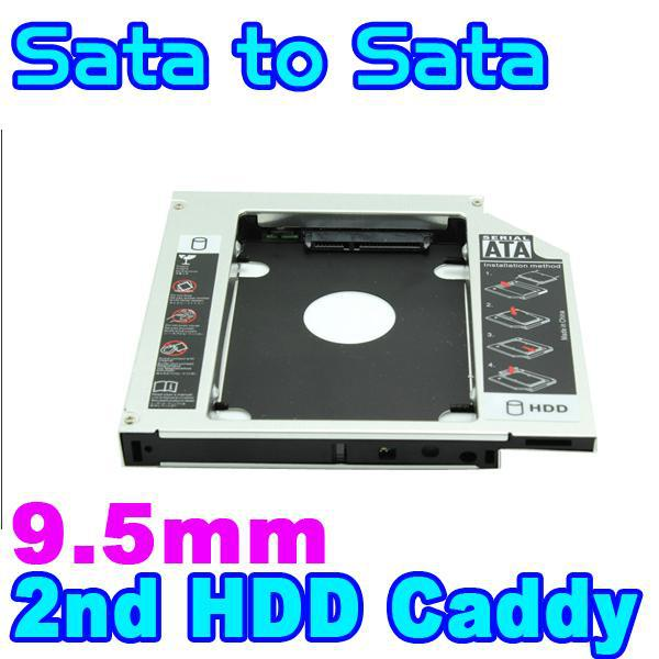 9.5mm 2.5 SATA to SATA Aluminum 2nd SSD HDD HD Hard Disk Drive Caddy External Enclosure CD DVD Optical Bay Case for Laptop<br><br>Aliexpress