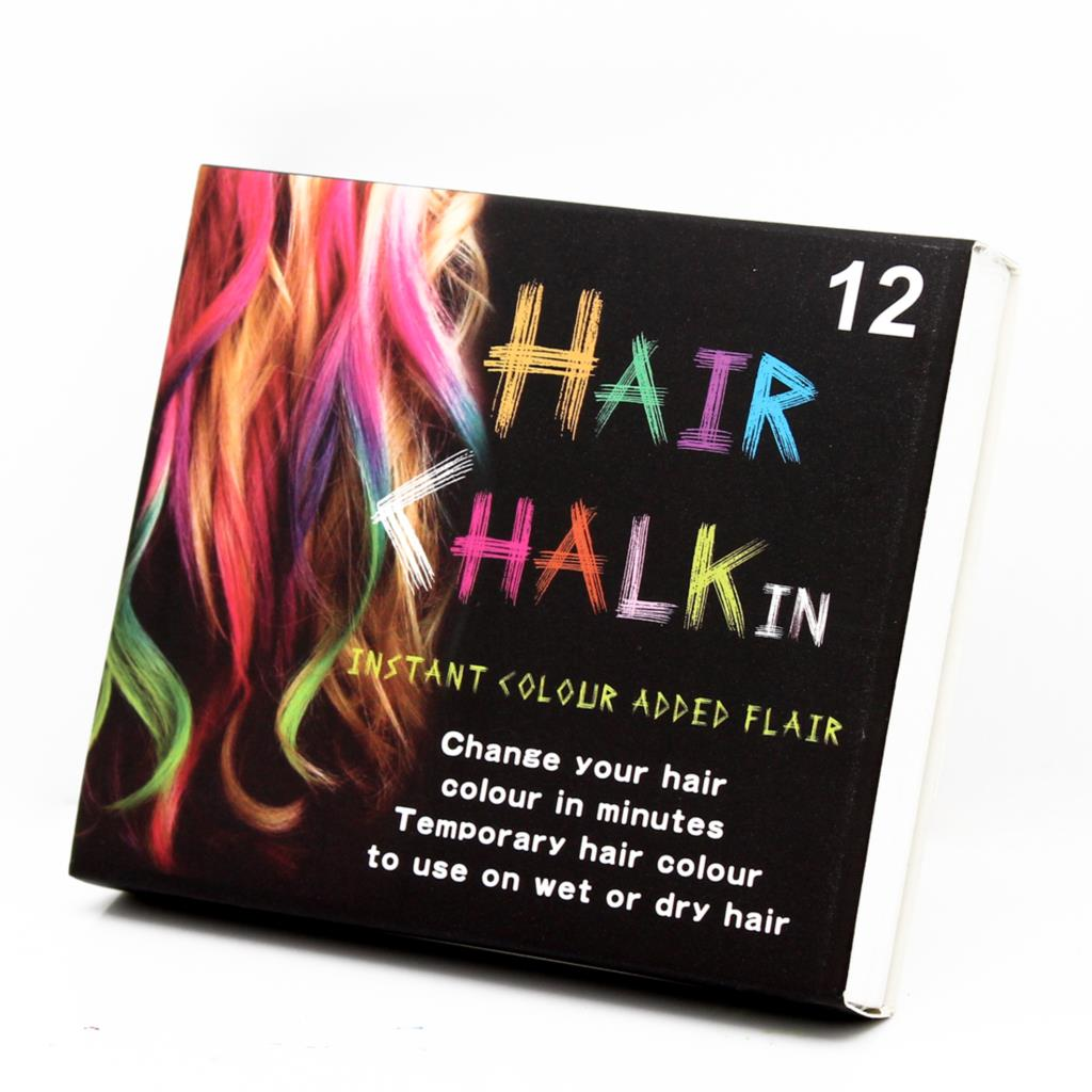 12 Colors Non-toxic Temporary Salon Kit Pastel Square Hair Chalk Beauty Hari Colors Pastel Chalk Use For Hair
