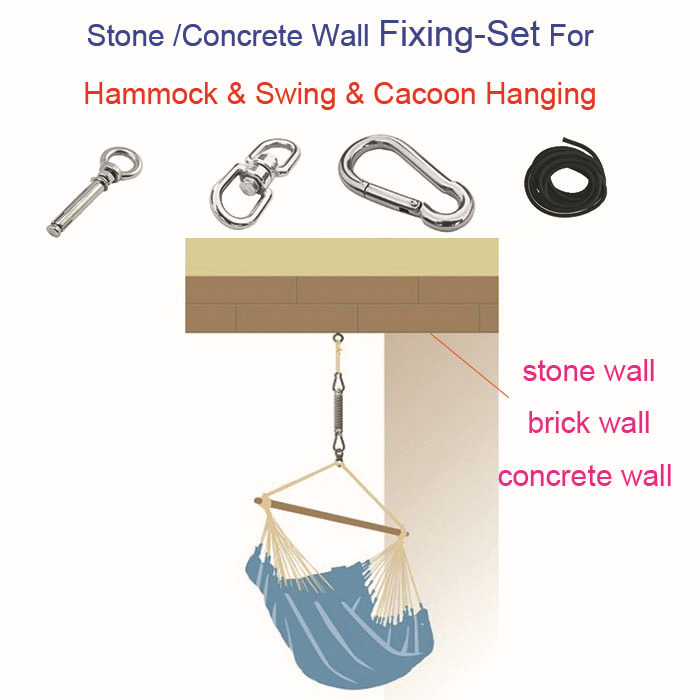 Hammock accessory Concrete stone brick Wall Fixing set for hammock chair baby swing chair & outdoor outdoor indoor hammock chair(China (Mainland))