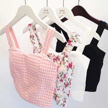 Fashion Women Tank Tops Bustier Bra Vest Floral Crop Top Bralette Blouses LY1(China (Mainland))