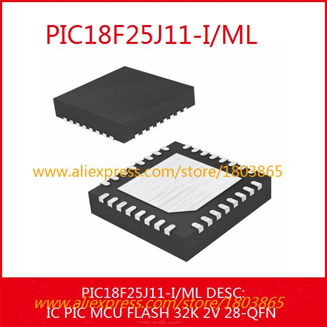 Free Shipping Voltage Regulator PIC18F25J11-I/ML IC PIC MCU FLASH 32K 2V 28-QFN PIC18F25J11-I 3pcs(China (Mainland))