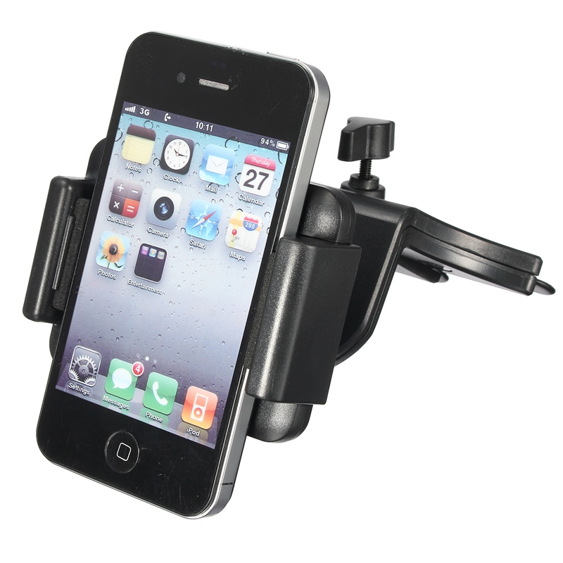 High Quality Universal Car CD Slot Phone Mount Holder For Ihpone 6 Mobile Phone Holder For Samsung S5/S4 For iPod GPS SP2 Holder(China (Mainland))
