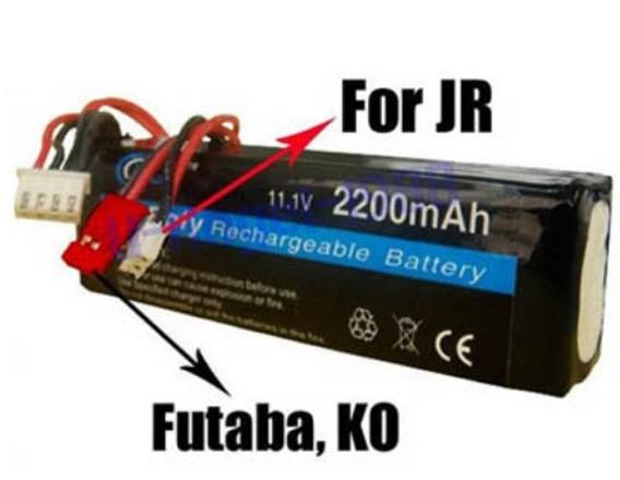 Regester ! RC Transmitter Lipo Battery 11.1V 2200mAh JR Futaba BEC - store