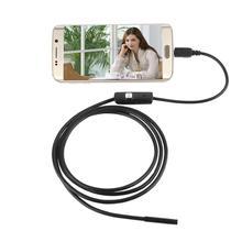 7mm Lens 1M Android OTG Phone Endoscope IP67 Waterproof Inspection USB Camera Borescope Tube HD LED Camera Snake video(China (Mainland))