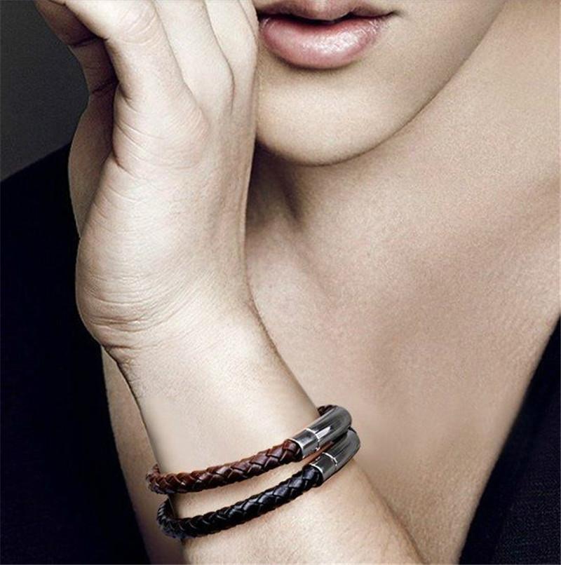 Fashion Titanium Bracelet Bangle Bracelet of bovine cortical trendsetter Hot(China (Mainland))
