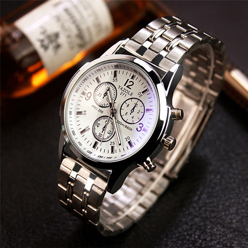Fabulous NEW Fashion Mens Noctilucent Stainless Steel Glass Quartz Analog Watches free shipping 3.09<br><br>Aliexpress