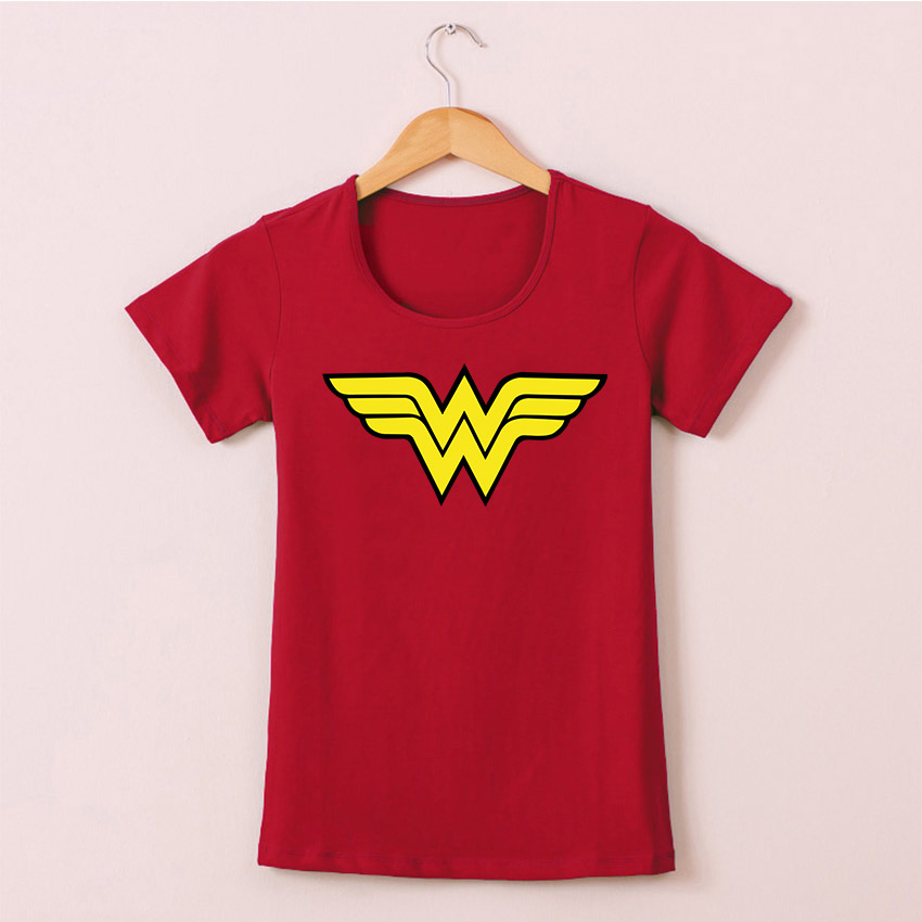 Summer 2017 Wonder Woman Logo T Shirts Women Comic Anime T-shirt Cotton Female Clothing Girl Camisetas Multicolor O Neck Top Tee(China (Mainland))