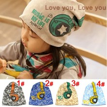Hot Sale New 2015 Spring Baby Kid Infant Sanded Cotton Headset Print Cap Children Beanie Headphone Hats Kid's Accessories(China (Mainland))