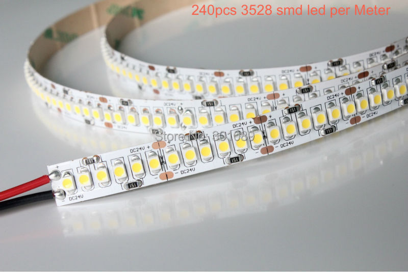 5m a roll/ a lot, led strip 3528, 240pcs led per meter, 24v, ww(3000-3500k)/pw(4000-4500k)/cw(5500-6500k) avaiable(China (Mainland))