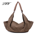 New Versatile Vintage Hobos Canvas Tote Bags for Women Messenger Bags Women Shoulder Bags Casual Multiple