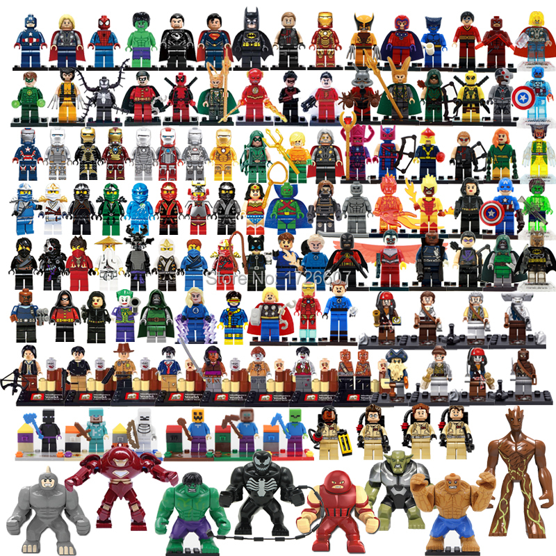 Single sale star wars marvel avengers super heroes hulkbuster figures minifigures building block classic children toy hobbies(China (Mainland))