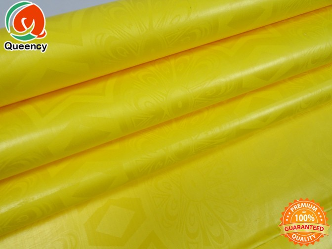African Bazin Riche Fabric high Quality Wholesale or Retail African Garment Fabric yellow Jacquard Damask Guinea Brocade BQ006-2(China (Mainland))