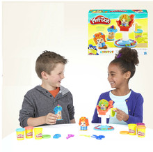 Play DOH mud Playsets  barber shop   educational plasticine 3D color modeling clay color dot Plasticine Playdough clay  toy(China (Mainland))