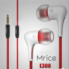 Original Mrice E300 earphone 3.5mm Jack In-Ear earphone/Earbud Computer tablet phone universal headset earbuds in stock