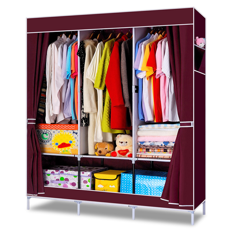 Free Shipping DIY Clothe Wardrobe Combination Non-woven Fabric Large Capacity Bedroom Furniture Storage Cabinet Portable Wardrob(China (Mainland))