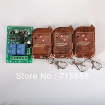 315MHz DC12V 2CH RF Wireless Remote Control Switch Controllers & Rceiver Modules 2 Relays