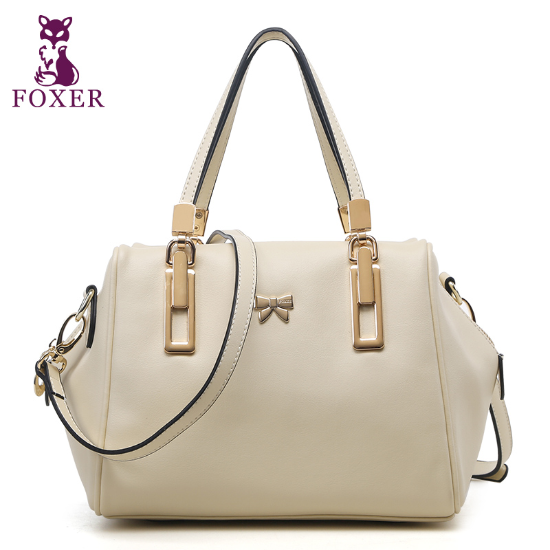 FOXER BRAND New Hobo Satchel Fashion Bag Tote Messenger Genuine Leather Purse Shoulder Handbag Women<br><br>Aliexpress