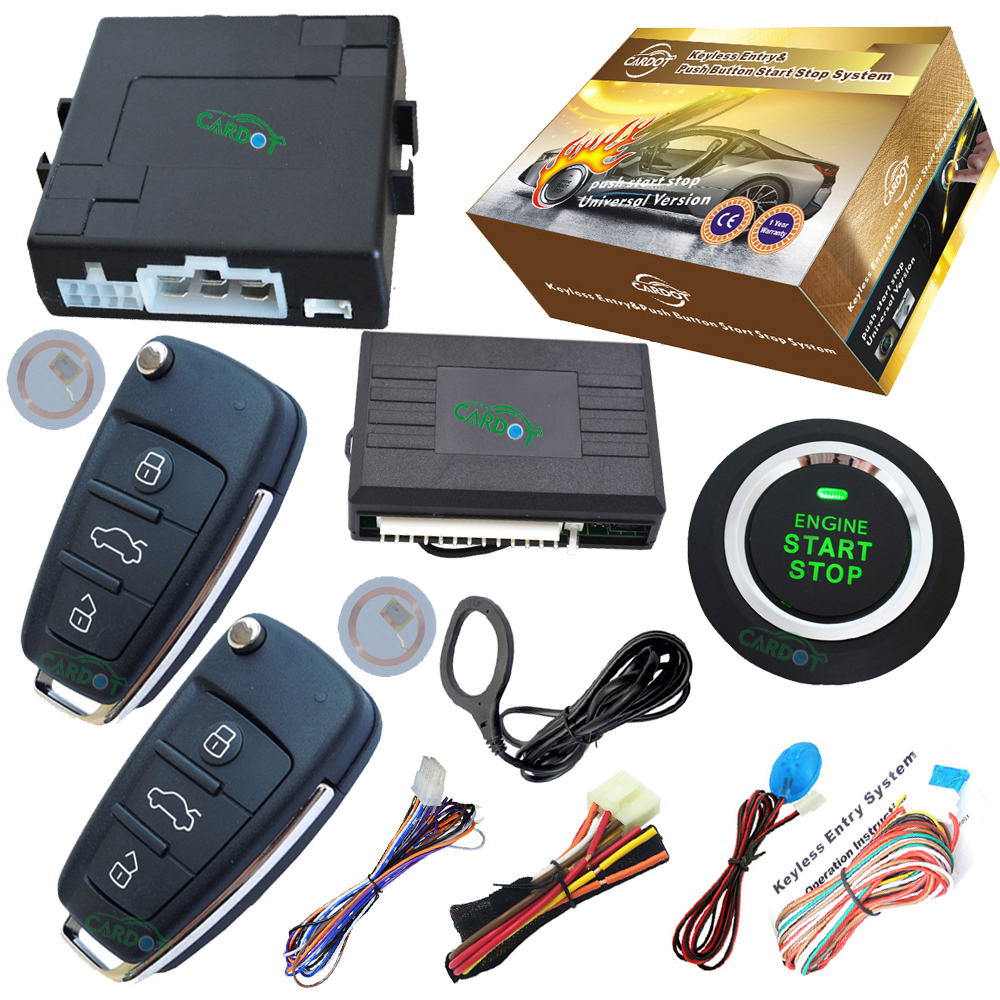 car remote keyless entry with start stop engine button rfid immobilizer engine anti-theft(China (Mainland))
