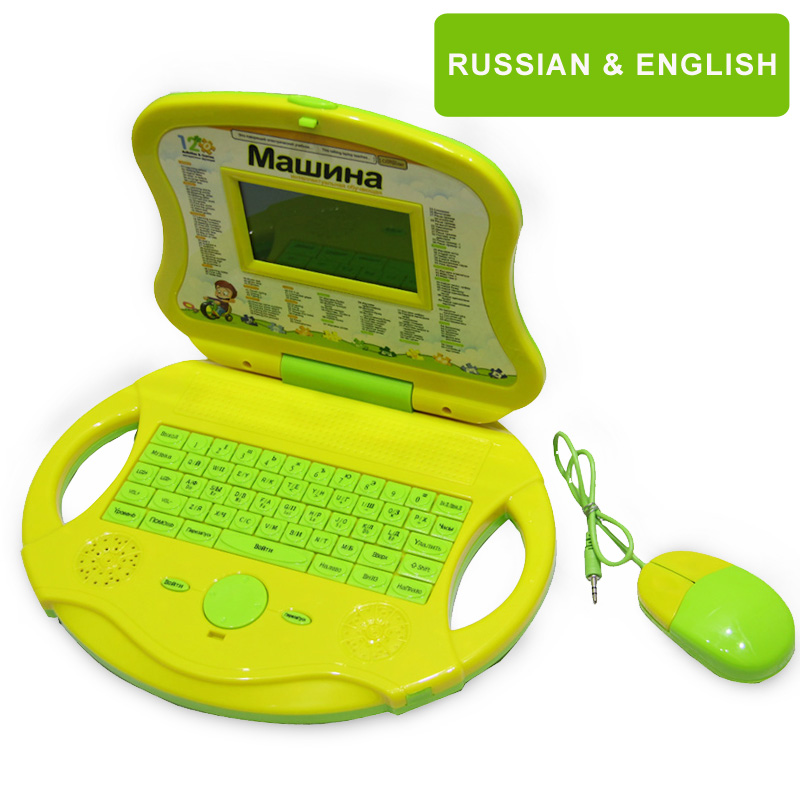 english russian language learning computer tablet for kids interactive educational baby toys laptop enfant juguetes educativos(China (Mainland))