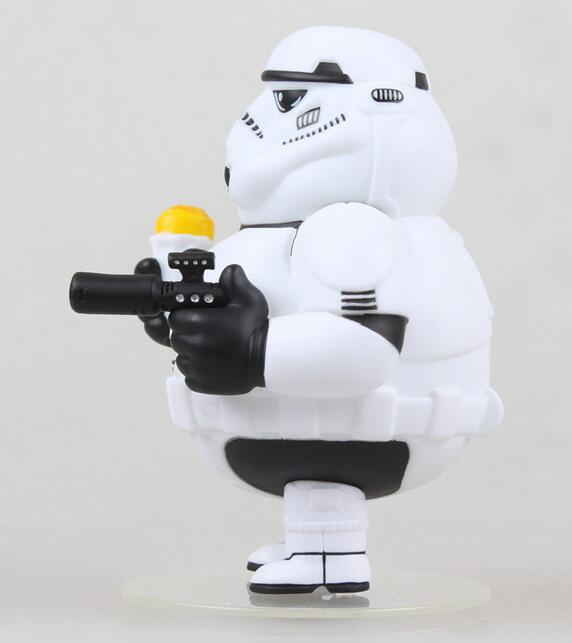 WOLVES WORLD Star Wars Stromtrooper Original white soldiers fat white knight 8cm PVC Action Figure Collectible