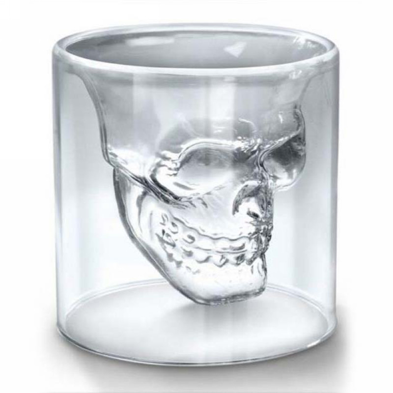 2016 Cool Crystal Pirate Skull Cup 73ml Whiskey Vodka Beer Cups Home Bar Cocktail Party Drinking Mugs(China (Mainland))