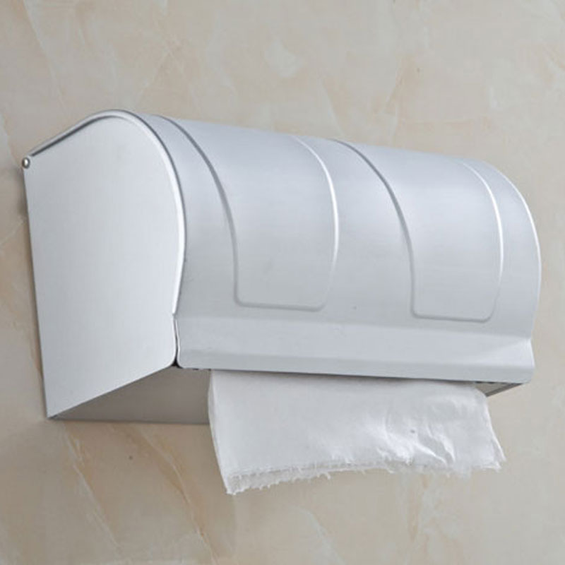Wall Mounted Aluminum 20cm Bath Toilet Paper Holders