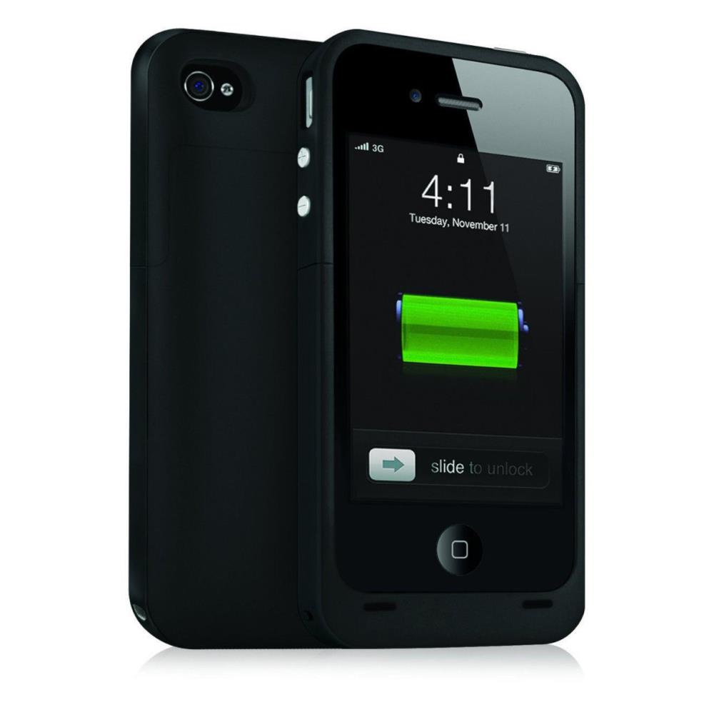 Ultra Slim 2500mAh Power Bank Backup Battery Charging Case Back Cover Supply iPhone 5 5S Black - Smarcent (HK store Inc.)