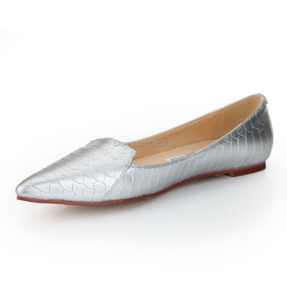 Silver nobe luxury fish scale pattern women flats shoes for Fish scale boots