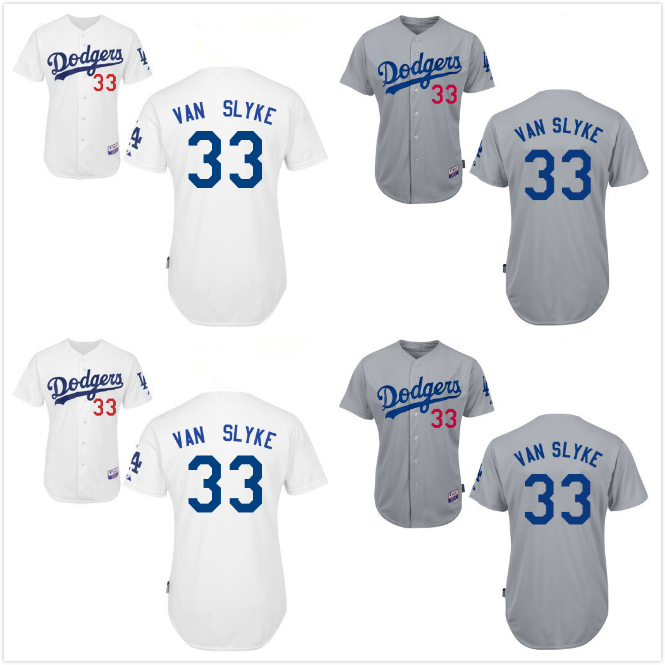 Men's 2015 New Los Angeles Dodgers #33 Scott Van Slyke jersey Baseball Personalized Embroidered Jersey Stitched Shirt 2124(China (Mainland))