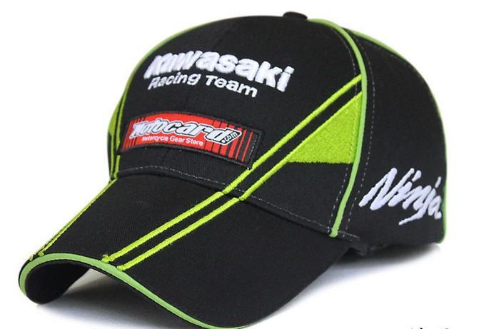 Black green embroideried 76 kawasaki hat cap racing auto moto gp motorcycle baseball cap hat fashion summer trucker hat cap(China (Mainland))